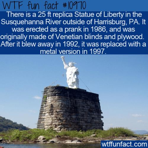 WTF Fun Fact - Mini Statue Of Liberty