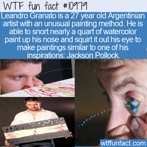 WTF Fun Fact - Paint By Own Eye