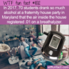 WTF Fun Fact – Alcohol In The Air