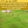 WTF Fun Fact – SWE-DEN