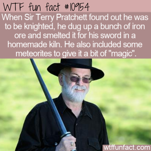 WTF Fun Fact - Sir Terry Pratchett's Sword