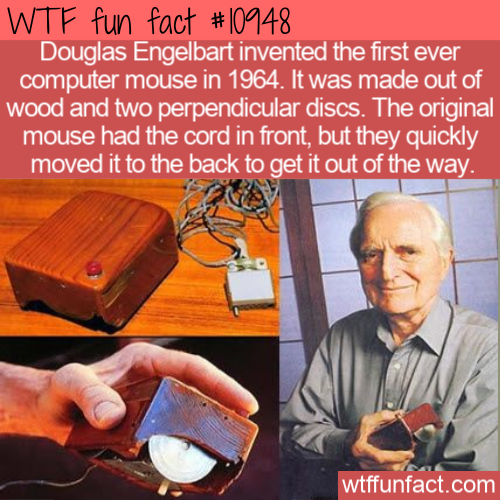 WTF Fun Fact - Wooden PC Mouse