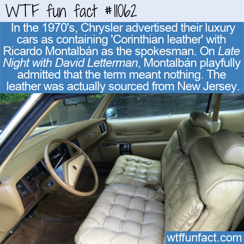 WTF Fun Fact - Chrysler's Corinthian Leather