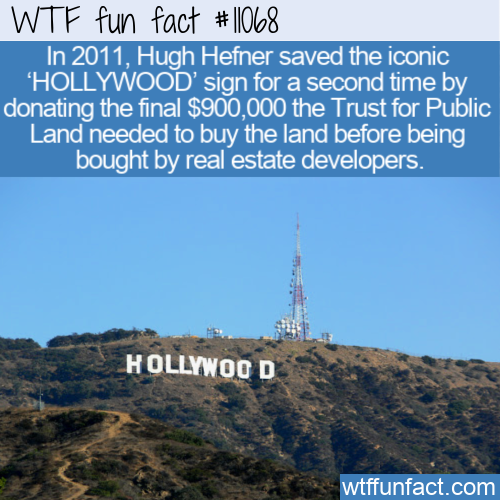 WTF Fun Fact - Donation To Save HOLLYWOOD