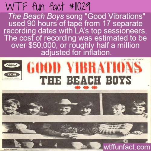 WTF Fun Fact - Good Vibrations Cost A Fortune