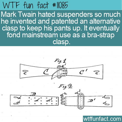 WTF Fun Fact - Mark Twains Surprise Invention