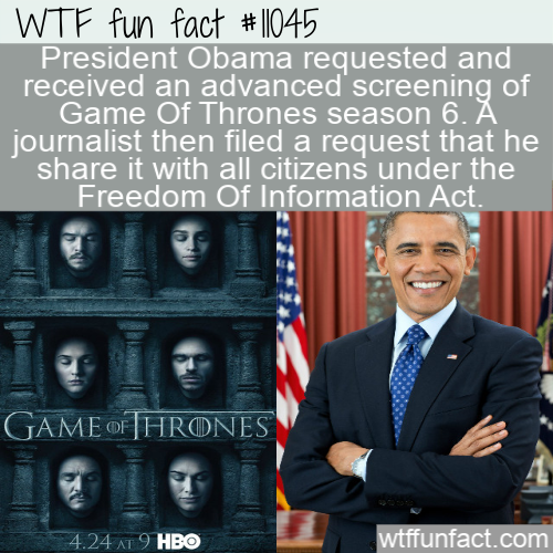 WTF Fun Fact - Obama Game Of Thrones