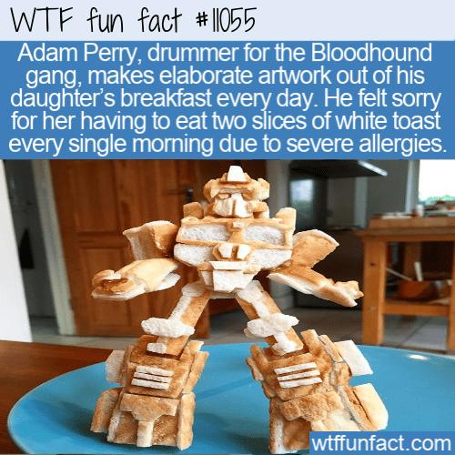 WTF Fun Fact - Toast Artwork