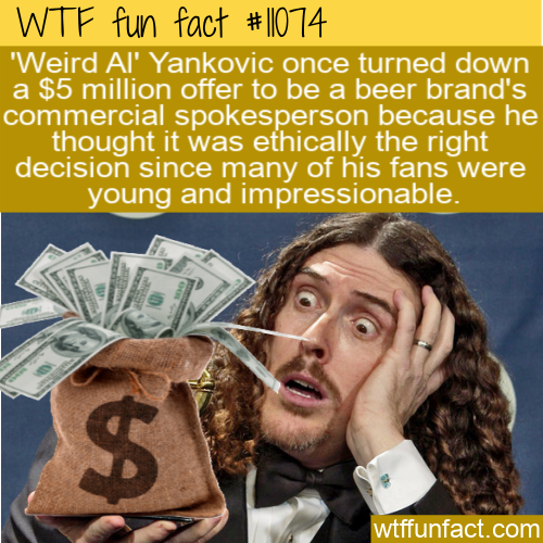 WTF Fun Fact - Weird Al Beer Money