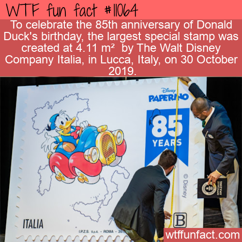 WTF Fun Fact - World's Largest Special Stamp