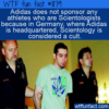 WTF Fun Fact – Adidas Doesn't Sponsor Scientologists