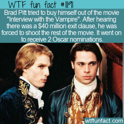 WTF Fun Fact - Brad Pitt Tried To Exit A Movie