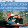 WTF Fun Fact – Canada Finally Independent In 1982