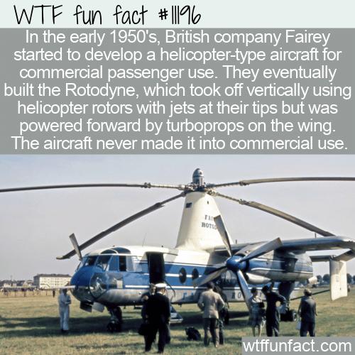 WTF Fun Fact - Fairey Rotodyne