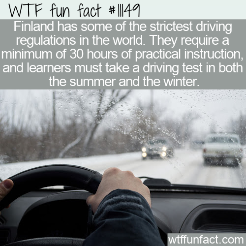 WTF Fun Fact - Finland Driving Test