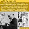 WTF Fun Fact – Norbert Pearlroth