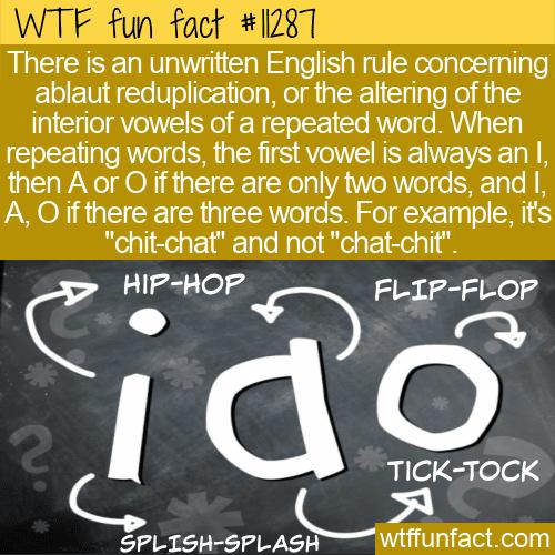 WTF Fun Fact - Ablaut Reduplication