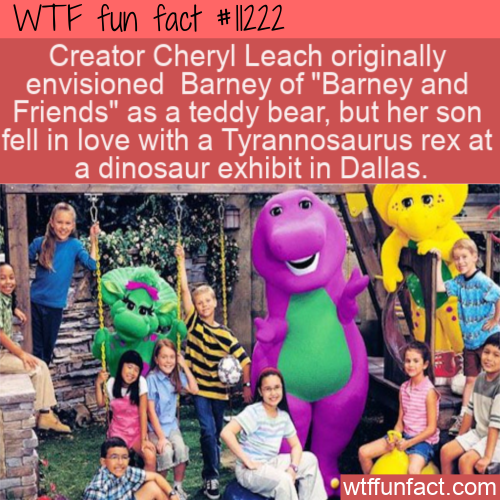 WTF Fun Fact - Barney The Friendly Teddy Bear