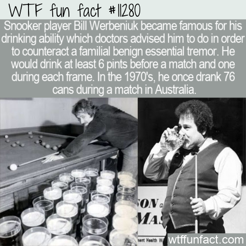 WTF Fun Fact - Bill Werbeniuk The Drinking Snooker Player
