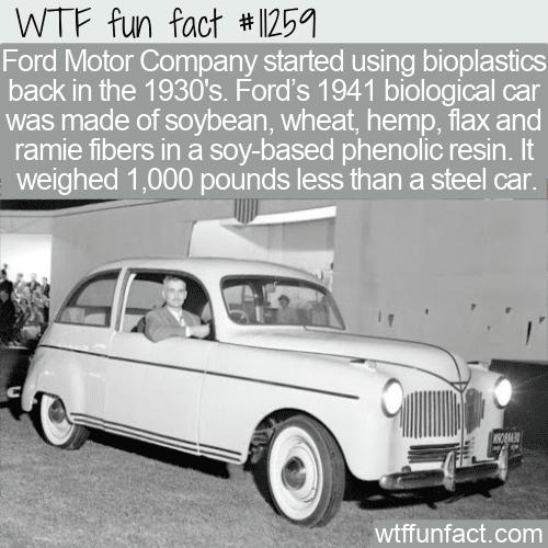 WTF Fun Fact - Bioplastic Ford
