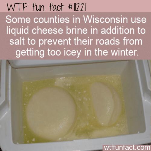 WTF Fun Fact - Cheese Brine On Roads