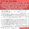 WTF Fun Fact – Citizenship Cancelled After Marriage