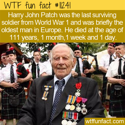 WTF Fun Fact - Harry Patch Died At 111 1 1 1