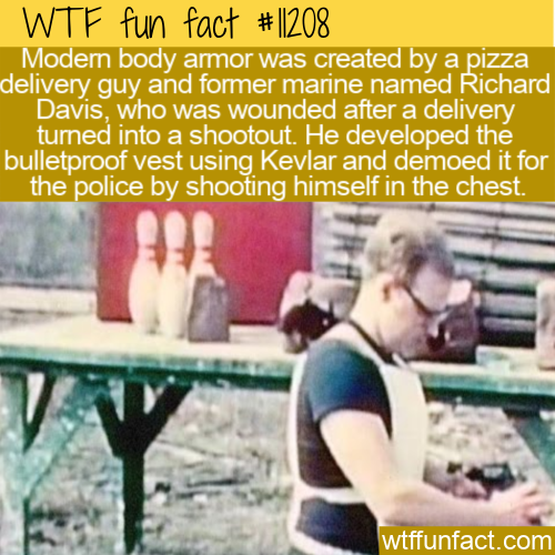 WTF Fun Fact - Pizza Delivery To Body Armor
